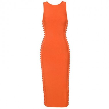 Carol Bandage Dress-Orange