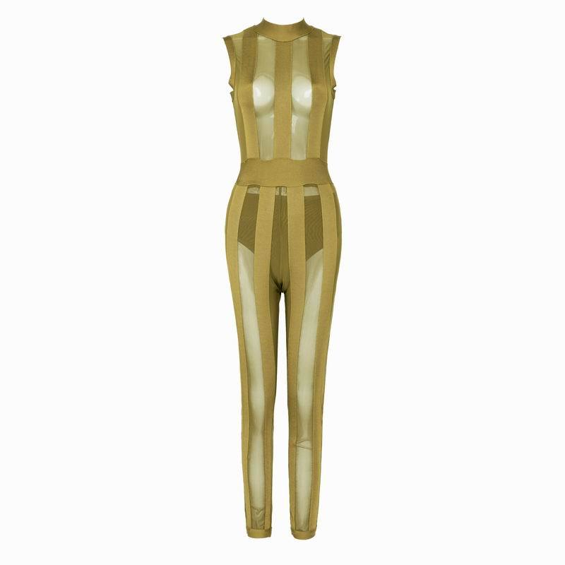 Ruth Bandage Jumpsuit- Green