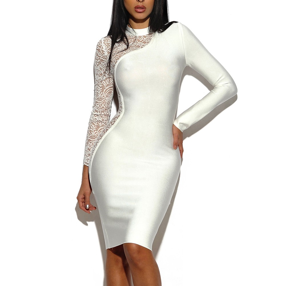 Ann Bandage Dress- White
