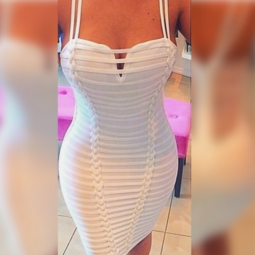 Jennifer Bandage Dress- White