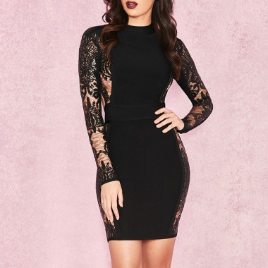 Doborah Bandage Dress- Black
