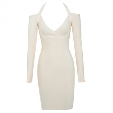 Mary Bandage Dress- White