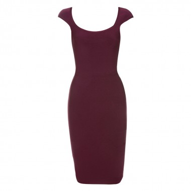 Patricia Bandage Dress- Wine